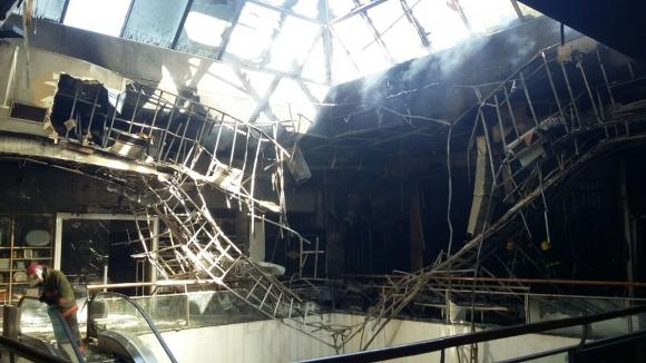 Incendio en Punta Carretas. Foto: Ministerio del Interior