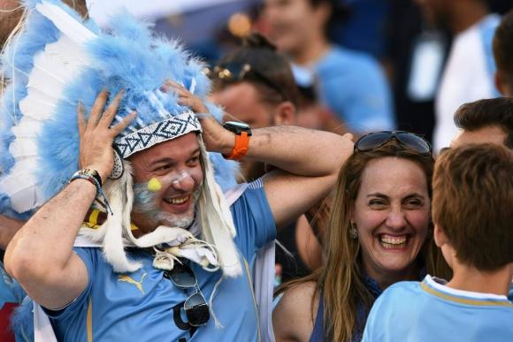 Las imágenes de Uruguay-Venezuela. Foto: AFP