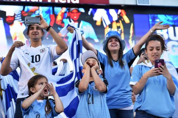Las imágenes de Uruguay-Venezuela. Foto: Reuters.