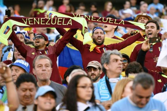 Las imágenes de Uruguay-Venezuela. Foto: AFP.