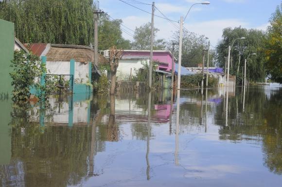 Inundaciones en Santa Lucía. Foto: Ariel Colmegna