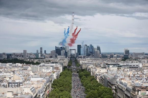 Fiesta Nacional en Francia. Foto: AFP