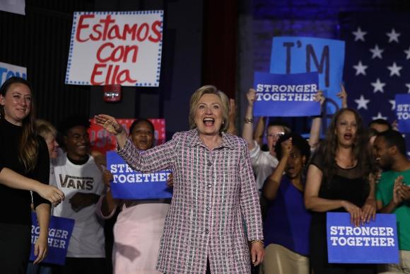 Hillary Clinton en la convención demócrata. Foto: AFP