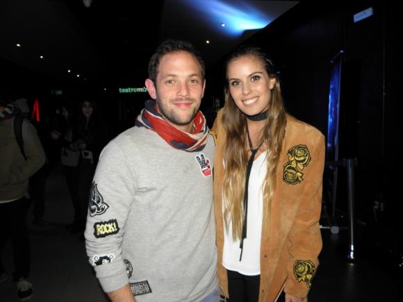 Cami Rajchman y su novio Rony Kolberg.