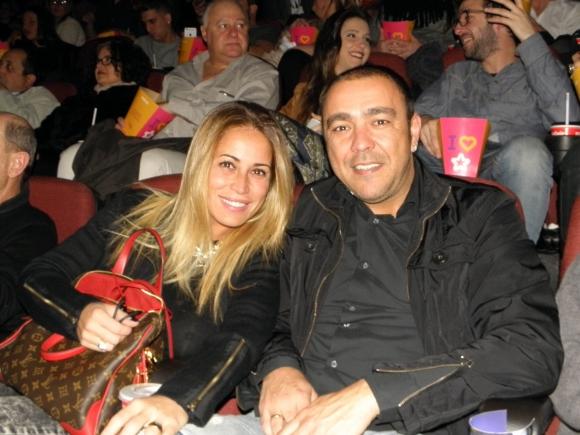 Chino Recoba y su esposa Lorena Perrone.