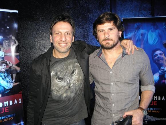 El director del film Federico Lemos junto a Luis Ara.