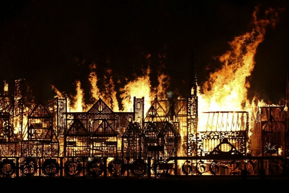 Incendio de Londres. Foto: AFP
