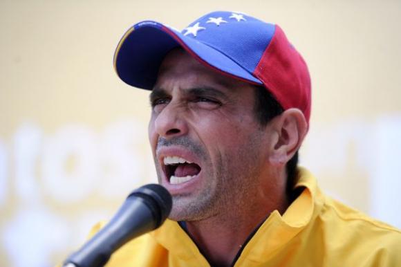Henrique Capriles, líder opositor venezolano. Foto: AFP
