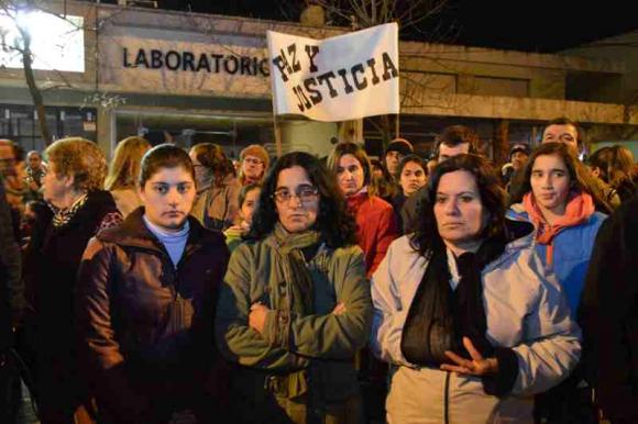 Marcha en Young por asesinato de comerciante. Foto: Daniel Rojas