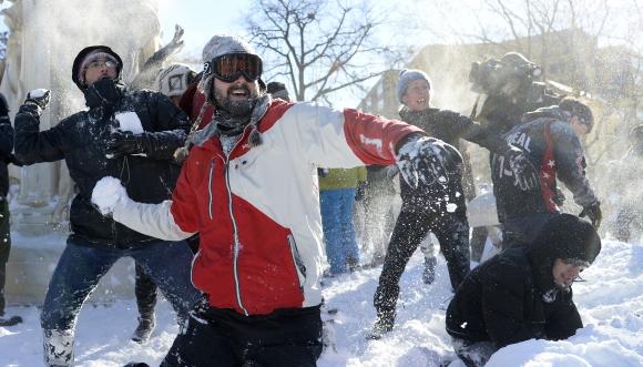 El día después de Snowzilla en Washington. Foto: AFP.