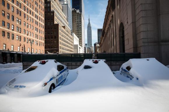 El día después de Snowzilla en Nueva York. Foto: AFP.