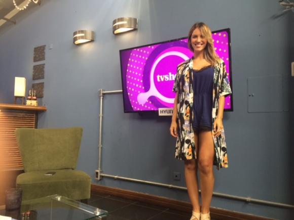 Andrea Vila en Tv Show.