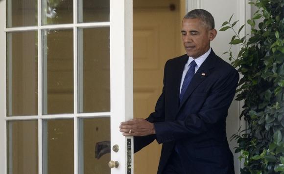 Ayer en Filadelfia, Obama pidió el voto para la candidata Clinton. Foto: AFP