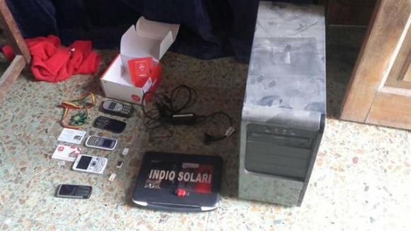 Elementos que fueron decomisados. Foto: Ministerio de Seguridad argentino