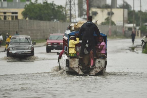 El huracán Matthew tocó tierra en Haití. Foto: AFP