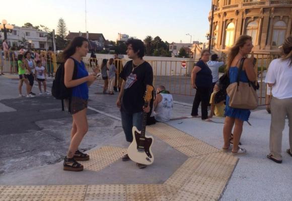 Rolling Stones en Montevideo. Foto: Gabriel Rodríguez