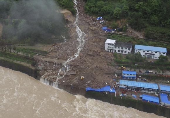 Corrimiento de tierras en China. Foto: EFE