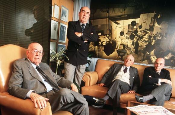 Junto a Eduardo Scheck, Enrique Beltrán y Daniel Scheck. Foto: El País
