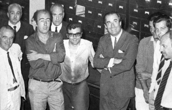 Acompañando a Wilson, en El País en 1971. Foto: El País