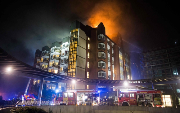 Incendio en hospital de Alemania. Foto: AFP