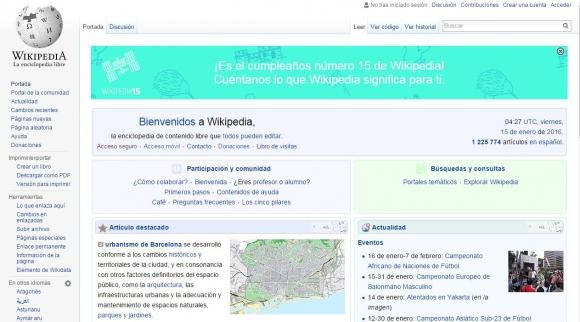 Wikipedia Celebra 15 Años De Trayectoria Vida Actual últimas