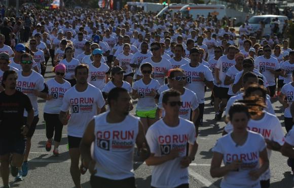 Participantes. La carrera tuvo a 9.500 atletas y batió un récord.
