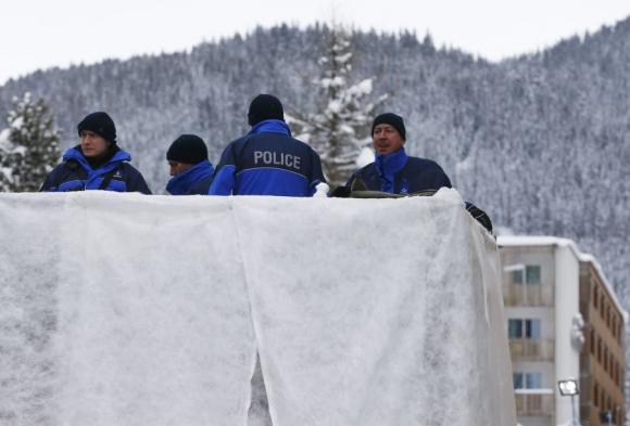 La seguridad en Davos. Foto. AFP.