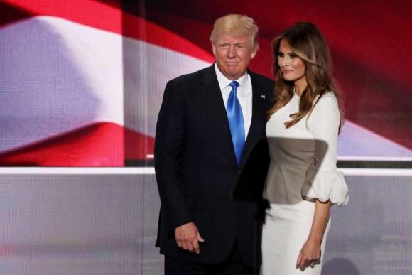 Donald Trump y su esposa Melania en la convención Republicana. Foto: AFP.