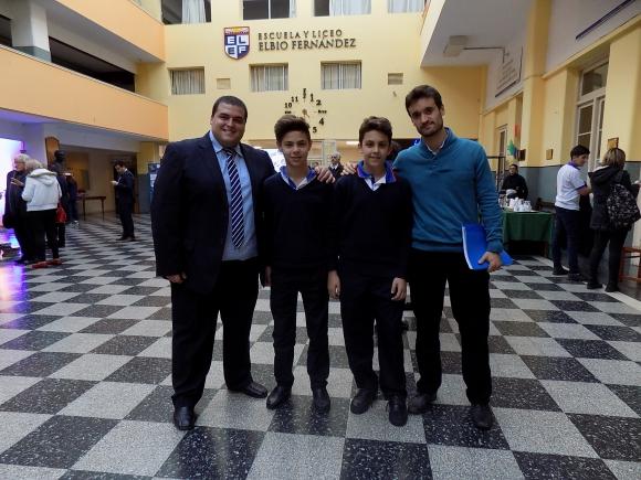 Federico Pereyra, Santiago Urquiza, Juan Bautista Burgos, Federico Laborde.