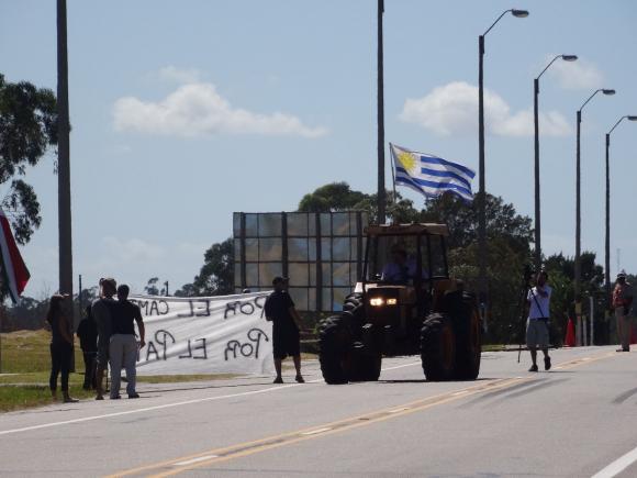 Protesta de tamberos en Maldonado. Foto: Ricardo Figueredo
