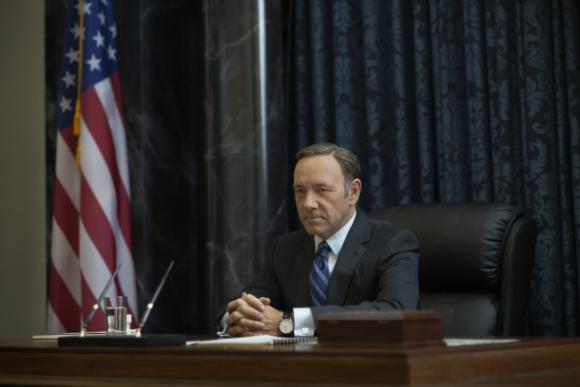 Kevin Spacey como el presidente Underwood en House of Cards.