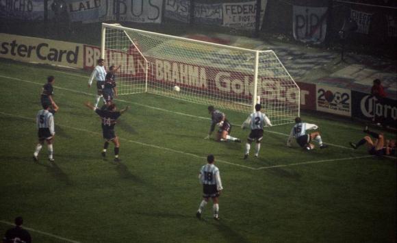 Argentina fue goleada por Estados Unidos en la Copa América de 1995. Foto: Archivo El País