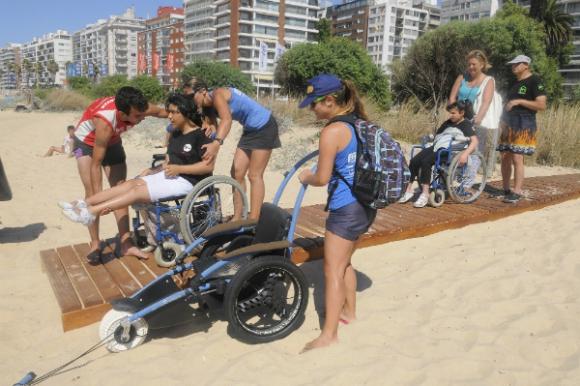 Pocitos y Malvín son escogidas por las rampas de accesibilidad (Foto: Fernando Ponzetto)