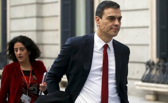 Llegada al Congreso de Pedro Sánchez, líder del PSOE.. Foto: Reuters.