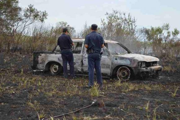 Encuentran cuerpo calcinado en Río Negro. Foto: Daniel Rojas