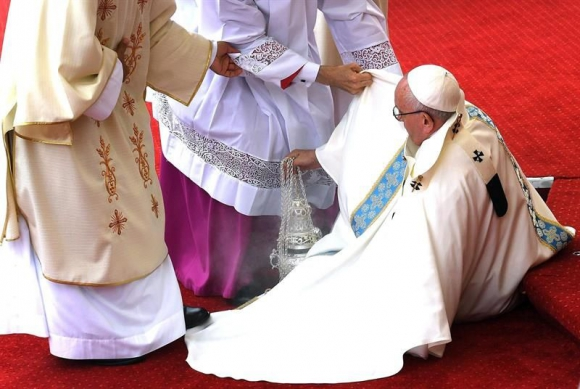 El papa Francisco en Polonia. Foto: EFE