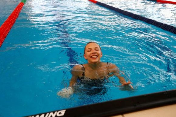 Nadar también forma parte del entrenamiento de Melitina Staniouta. Foto Reuters