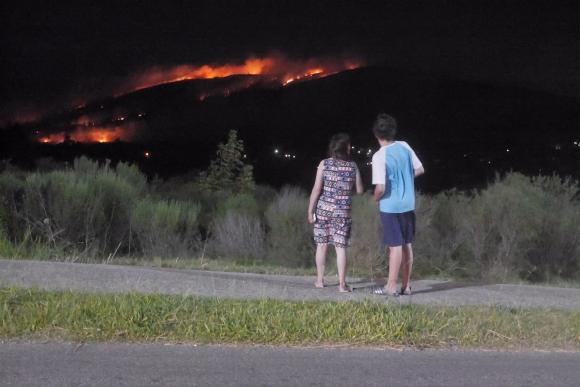 Incendio en Cerro del Toro. Foto: Ricardo Figueredo