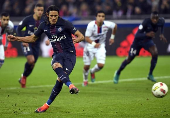 Edinson Cavani es el goleador de la Ligue 1 y de Europa. Foto: AFP