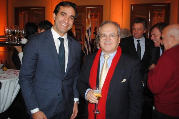 Luciano Fontana, Embajador de Francia Sylvain Itté.