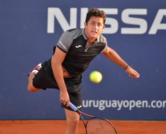 Nicolás Almagro sufrió pero ganó. Foto Uruguay Open
