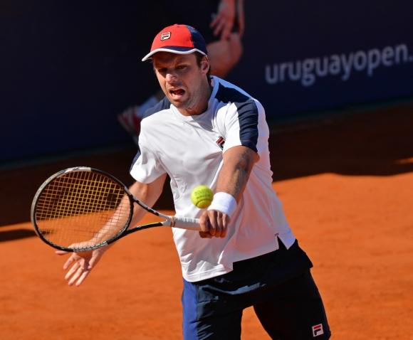 Zeballos ganó con luz. Foto Uruguay Open