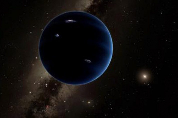 Representación de la distancia del Planeta 9 al Sol. Foto: Caltech / EFE.