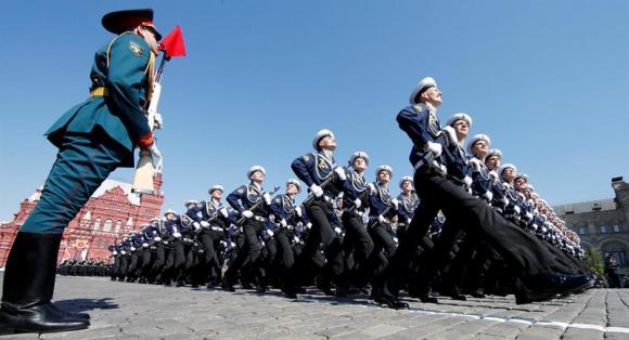 Rusia celebra Día de la Victoria contra Alemania Naxi. Foto: EFE