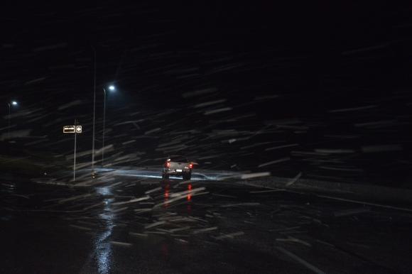 El viento golpea con fuerza en Maldonado. Foto: Ricardo Figueredo