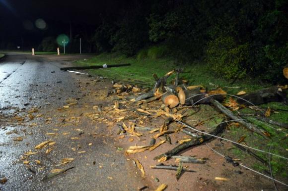 Efectos del temporal en Maldonado. Foto: Ricardo Figueredo