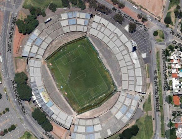 Estadio Centenario. Foto: Google Earth