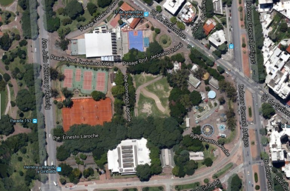 Parque Rodó. Foto: Google Earth