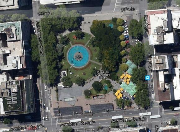 Plaza Ing. Fabini. Foto: Google Earth