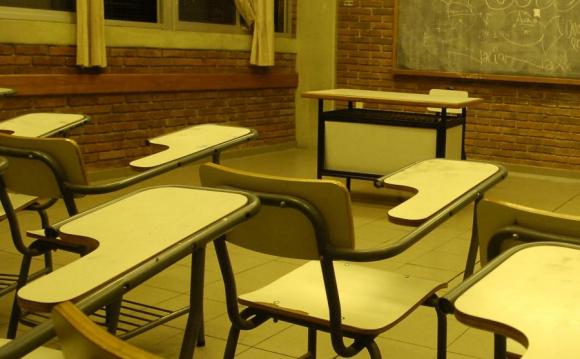 Salón de liceo en Montevideo. Foto: Archivo El País